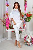 """Нарядная женская блуза """"BellA"""" с кружевом и широкими рукавами (2 цвета)"""