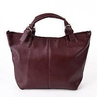 Бордовая женская сумка из искусственной кожи