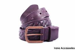 Ремень женский Guofend цвет фиолетовый, натуральная кожа (длина 110 см, ширина 3 см)