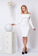 Вечернее платье-футляр (белый)