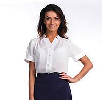 Нарядная белая блуза на пуговицах