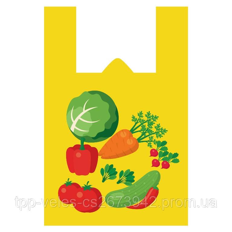 Пакет майка «Овощи» 37(8)х57,24