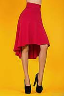 """Оригинальная асимметричная юбка """"Шлейф"""" с завышенной талией (2 цвета)"""