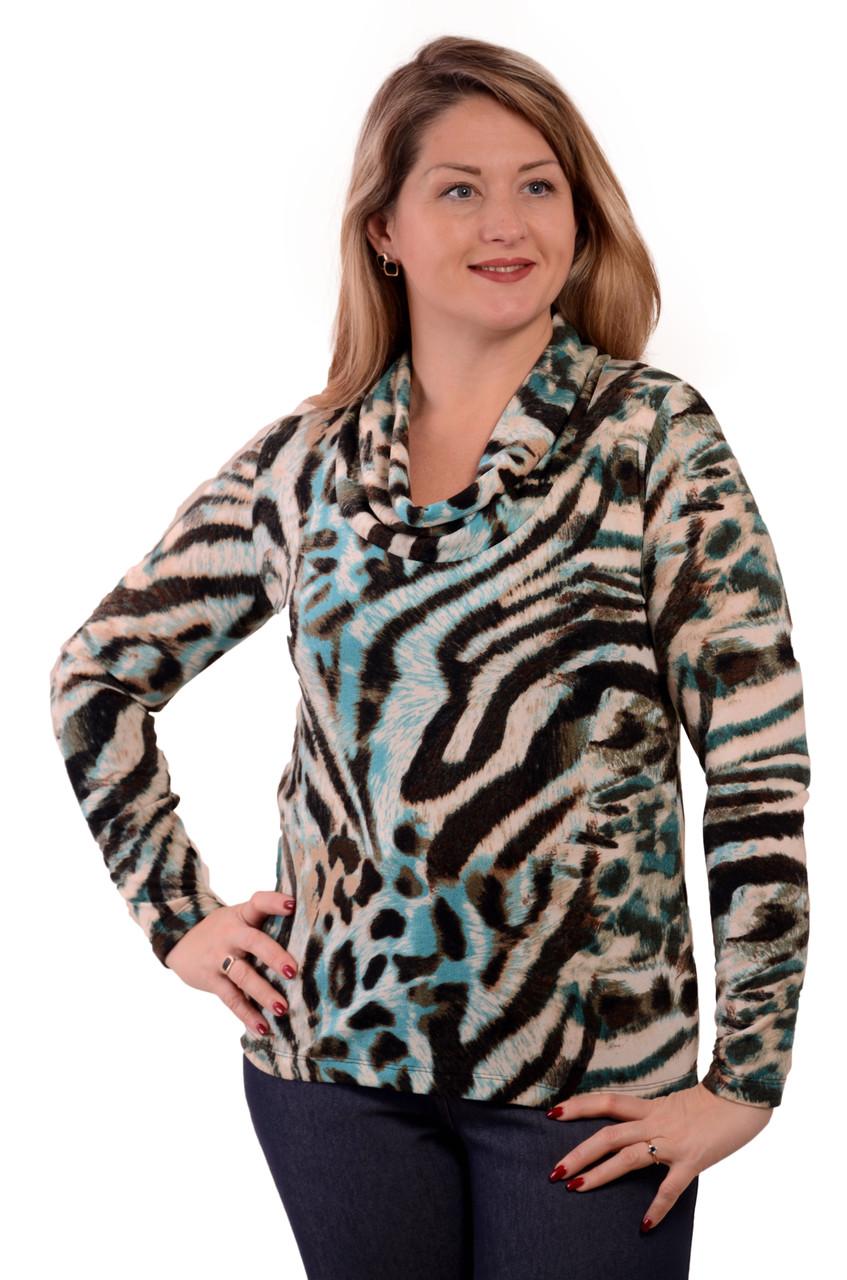 Свитер теплый из вязанного полотна  бл 664 размер 48-58