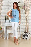 """Летняя женская блуза без рукавов """"Minelli"""" с принтом (4 цвета)"""