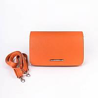 Женская сумка через плечо цвета оранж