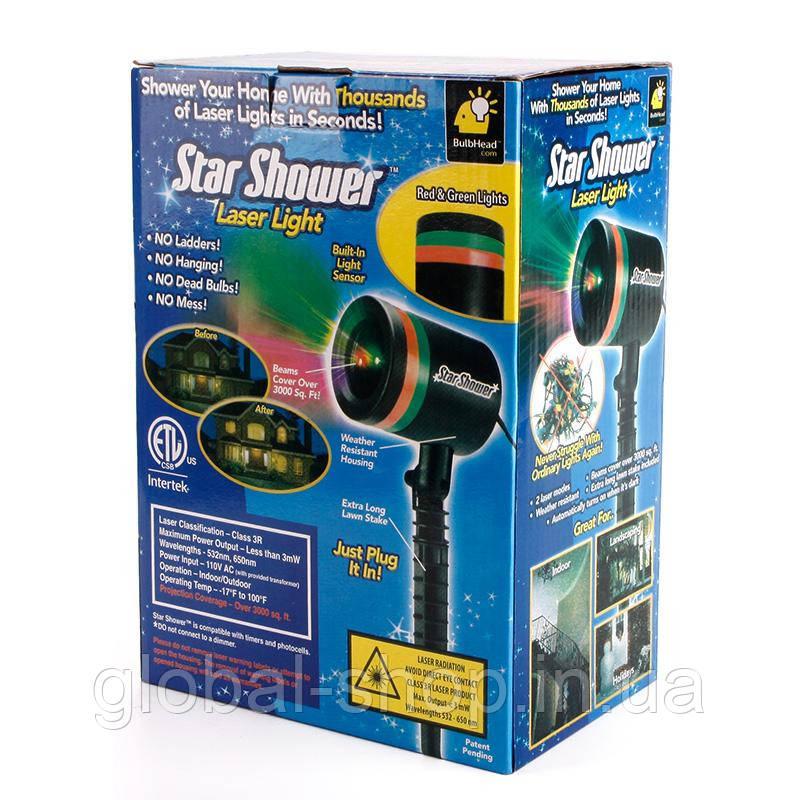 Лазерный проектор Star Shower Laser Звездопад лазерный луч As Seen On TV