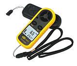 Цифровой анемометр Benetech GM-816 (0,7 - 30 м/с) (шаг измерения - 0,1м/с) с измерением температуры, фото 2