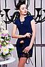 """Летнее платье """"Алися"""" темно-синего цвета"""