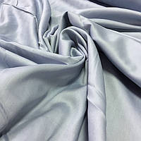 Сатин Люкс однотонный серый с голубым отливом, ширина 240 см