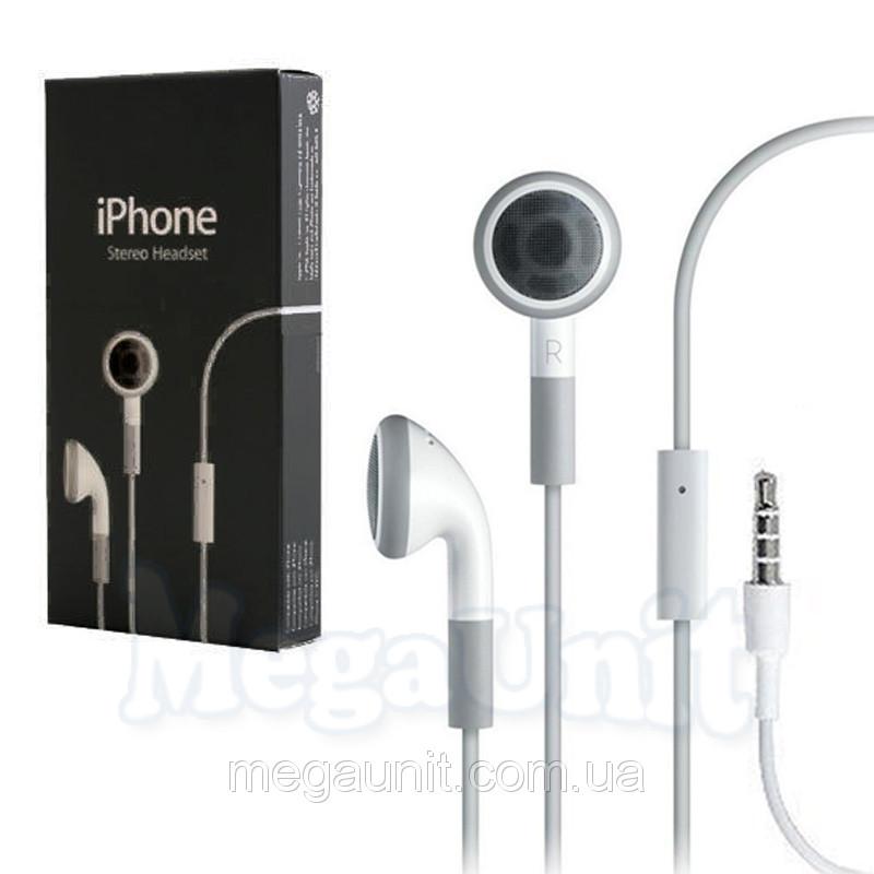 Наушники-гарнитура для Apple iPhone/iPad/iPod