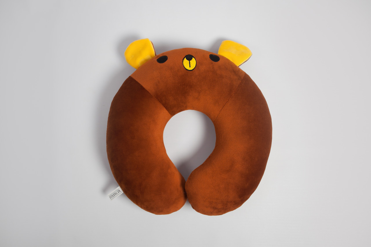 Подушка для путешествий Strekoza Мишка Юппи 34см коричневый