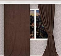 Готовые шторы 3 м софт Chocolate