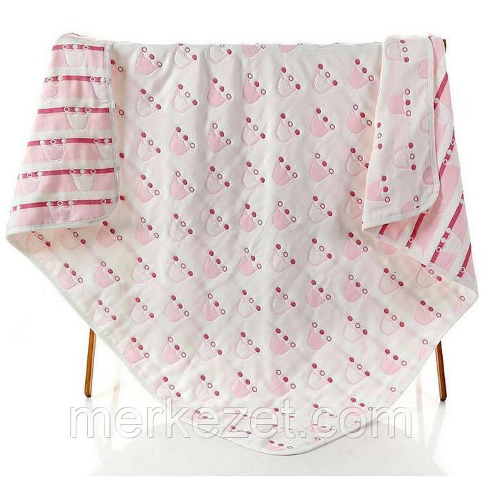 """Натуральная льняная простынь, покрывало, детский """"Корона пинк"""". Одеяло, пледы, простыня"""