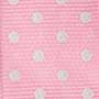 Репс для рукоделия нежно-розовый в горошек 2,5 см