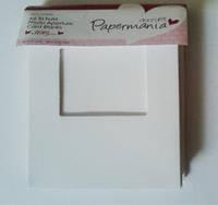 Набор заготовок для открыток с окошком, в три сложения PAPERMANIA 10шт белый