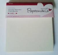 Набор заготовок для открыток, текстурированный картон PAPERMANIA 10шт кремовый