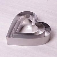 Набор из 3 форм Сердце для выкладки/вырубки Kamille (7776) 10х10/15х15/20х20см