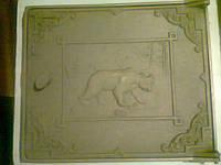 ✅ Дверка топочная чугунная «Медведь» 454 х 385 мм (вес - 14,88 кг)