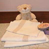 Постельное белье для малышей в кроватку из беленого льна