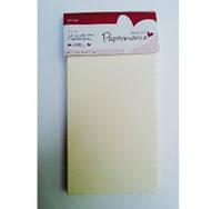 Набор заготовок для открыток с зубчатым краем PAPERMANIA 12шт кремовый