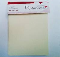 Набор заготовок для открыток PAPERMANIA 10шт кремовый