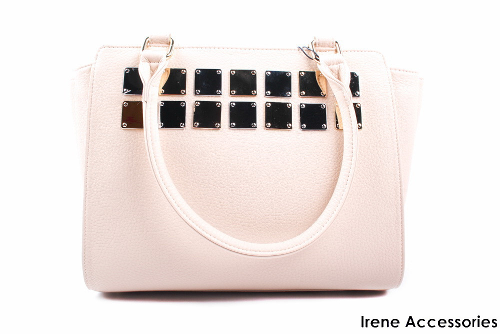 Модельная женская сумочка ShengKasiLu бежевая, эко-кожа