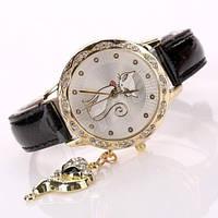 Изысканные женские часы со стразами Golden Cat