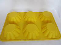 Силиконовая формочка для кексов, 31х21х3,5 см, (80/70) (цена за 1 шт. +10 грн.) , фото 1