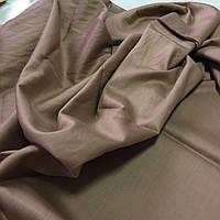 Сатин однотонний коричневий, ширина 220 см, фото 1