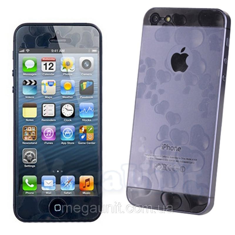 3D Защитная пленка для iPhone 5/5S (Сердце)