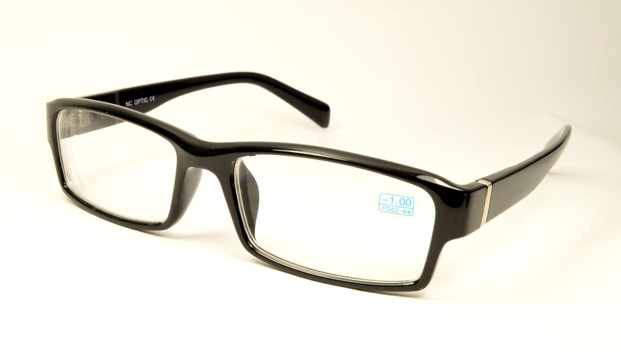 Очки минуса черные (1033)