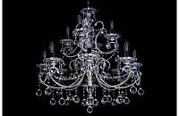 Люстра хрустальная на тренадцать ламп LS5418-8+4+1