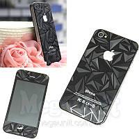 3D Защитная пленка для iPhone 4/4S (Алмаз)