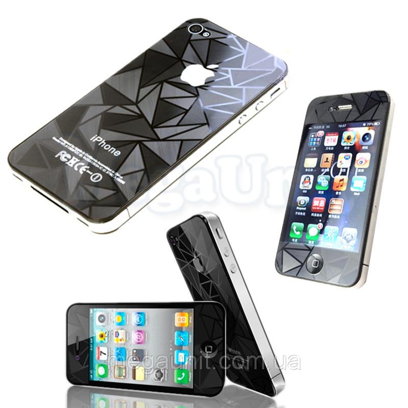 3D Защитная пленка для iPhone 4/4S (Треугольник)