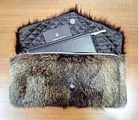 Сумка-клатч из натурального меха, размер 40х20см, фото 1