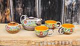 """Чайний набір """"Вінок"""" жовтий, фото 2"""