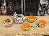 """Чайний набір """"Вінок"""" жовтий, фото 3"""