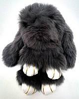 Брелок Кролик из натурального меха серенький