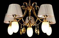 Люстра с абажурами на десять ламп LS6022-5+5