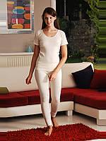 Термобелье. Термофутболка шерстяная женская с длинным рукавом. Размеры M. L. XL