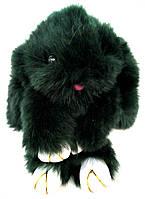 Брелок Кролик из натурального меха зелёненький