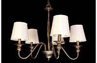 Люстра с абажурами на пять ламп LS6026-5ВR