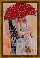 """Схема для вишивки бісером """"Двоє під парасолею"""""""