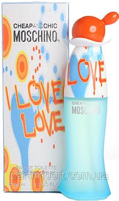 Moschino I Love Love EDT 100 ml  туалетная вода женская (оригинал подлинник  Италия)