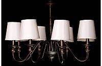Люстра с абажурами на восемь ламп LS6026-8BR, фото 1