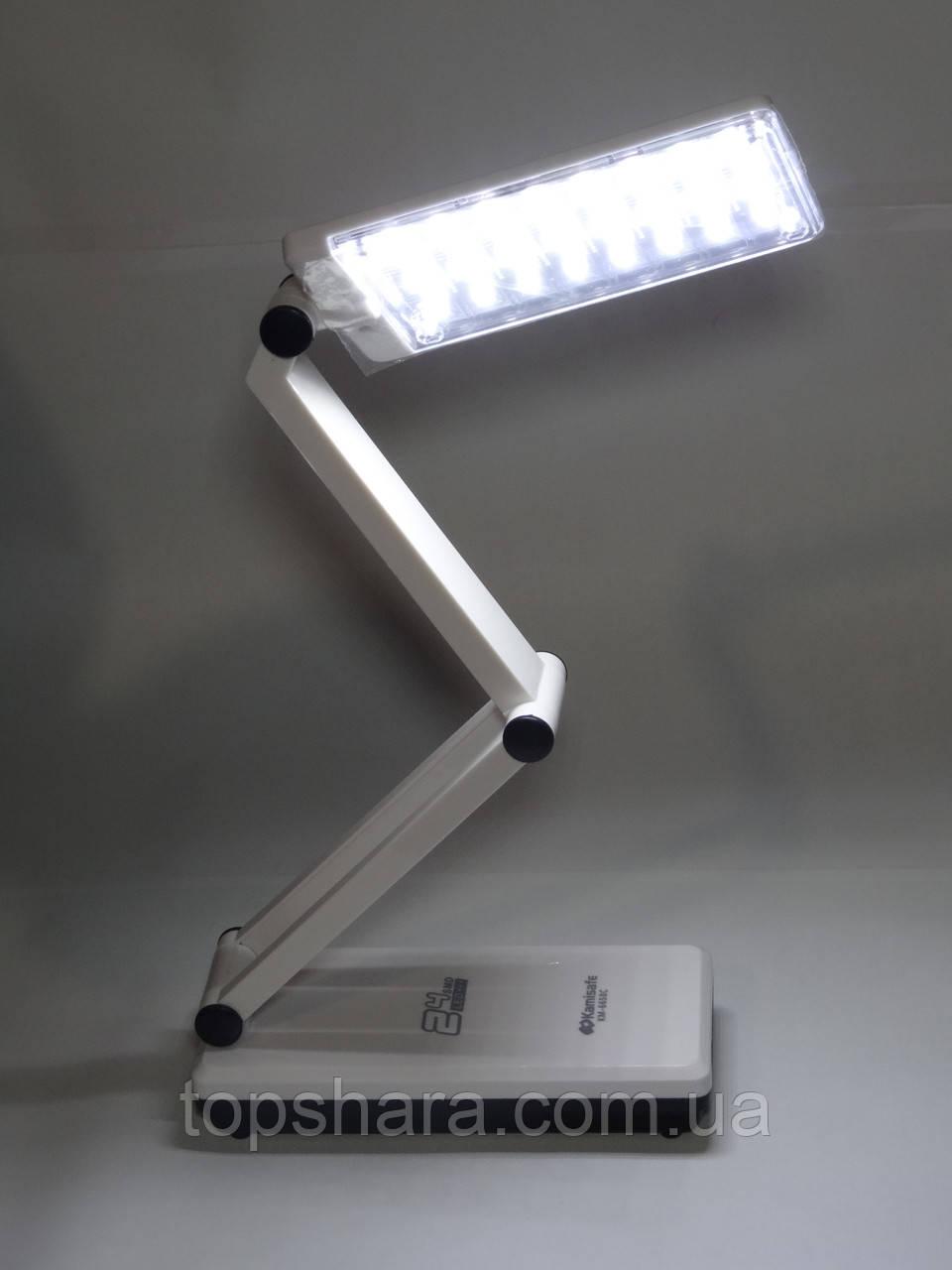 Лампа настольная трансформер kamisafe KM-6658C 24 led