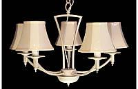 Люстра с абажурами на пять ламп LS6027-5W
