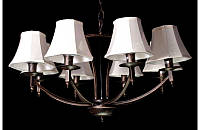 Люстра с абажурами на восемь ламп LS6027-8BR, фото 1