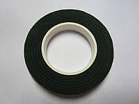 Флористическая лента тёмно-зелёная, моток 23 м